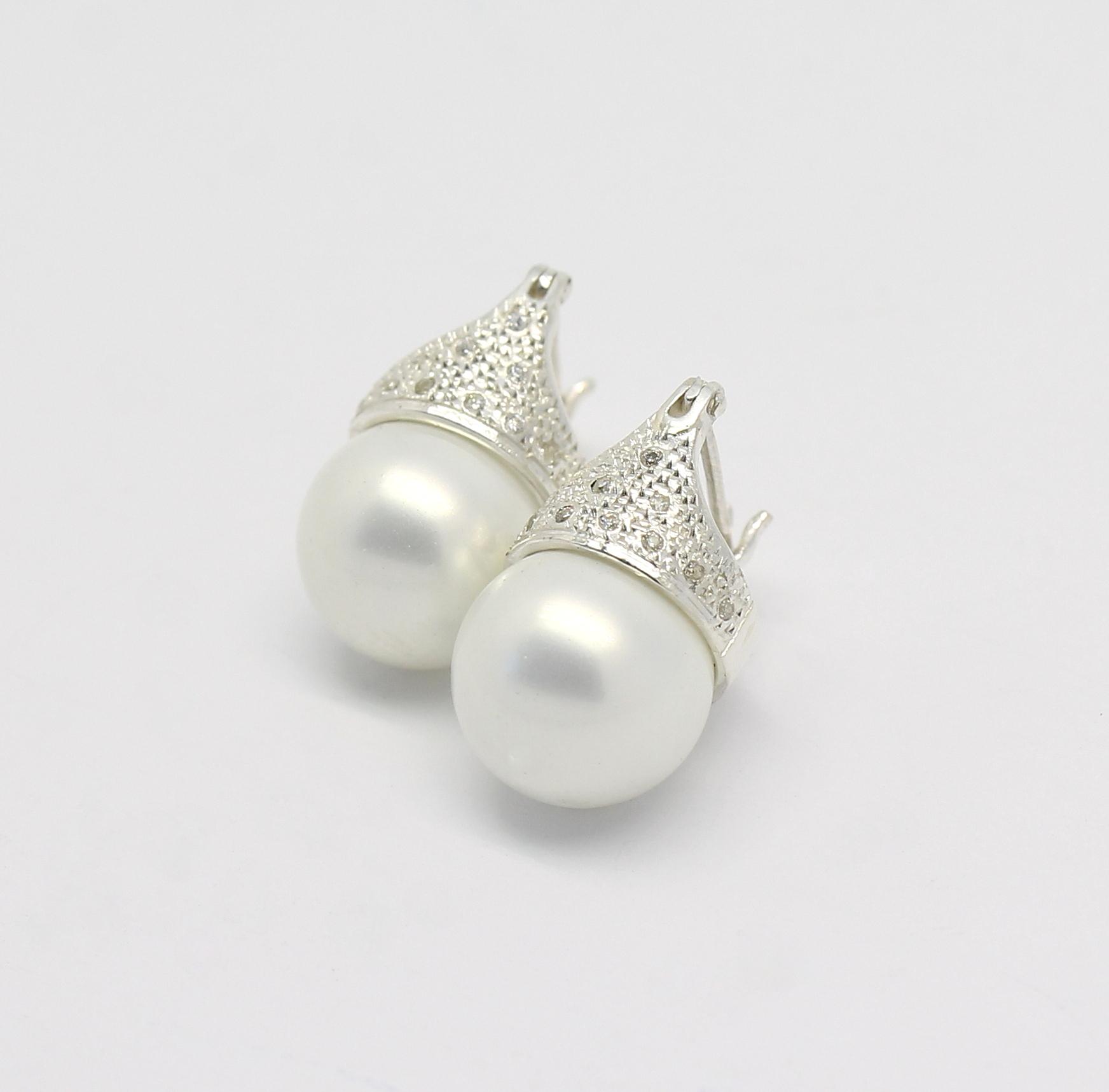 23e4e167831f7 Brinco Lady Di Diamante e Pérola Ouro 18k 750 - Marcio Joalheiros ...