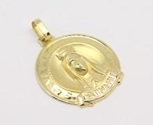 Medalha N. Sra. de Fátima Ouro 18k 750 (2)