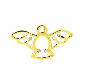 Pingente Divino Espirito Santo Vazado Diamantes Ouro 18k 750 (3)