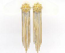 Brinco Flor de Lótus Diamantes Ouro 18k 750 (1)