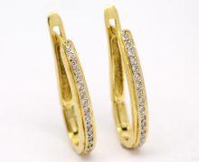 Brinco de Argolas Diamantes Ouro 18k 750 (6)