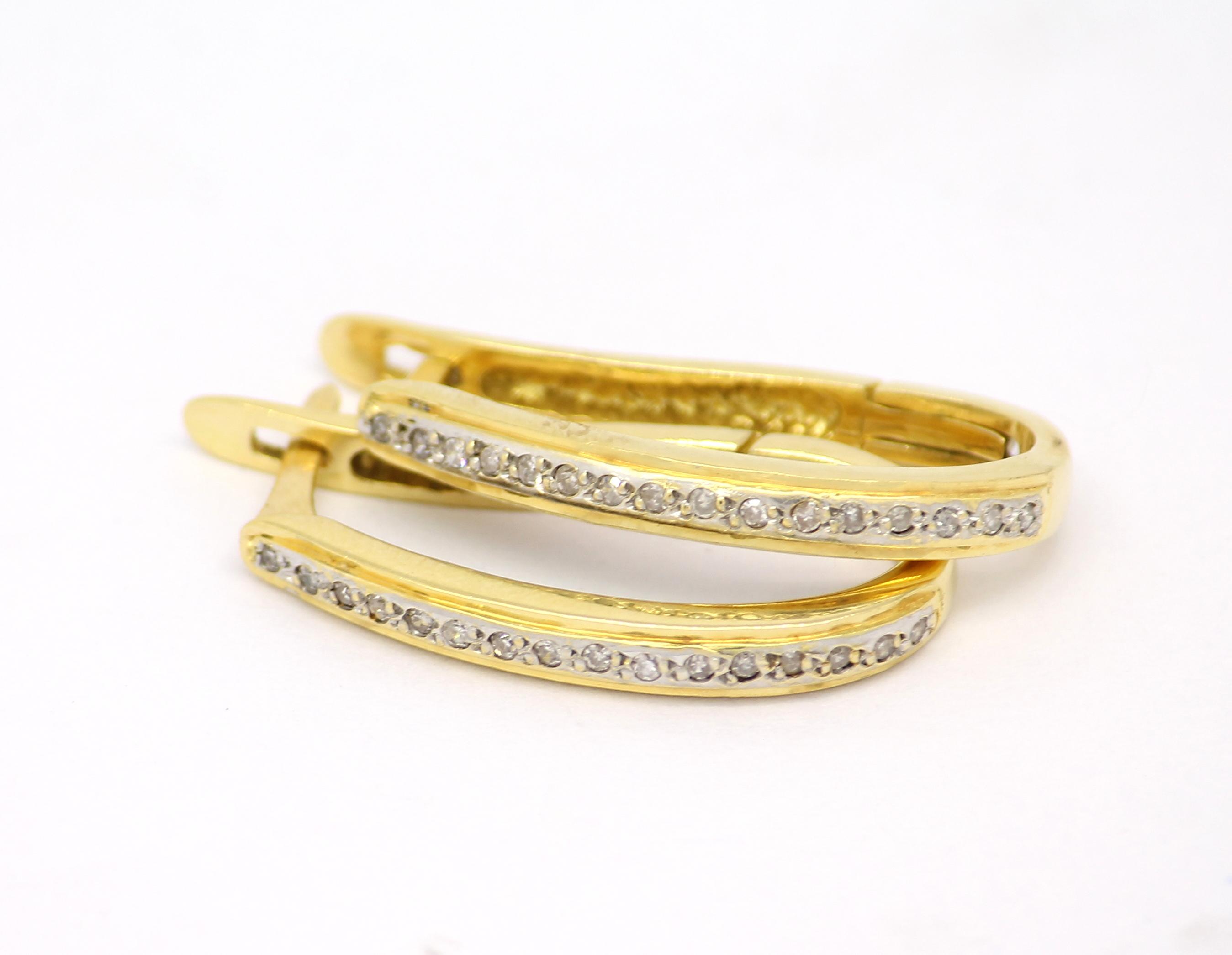Brinco de Argolas Diamantes Ouro 18k 750 - Marcio Joalheiros ... f9cce3abb2
