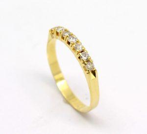 Meia Aliança de Diamantes Ouro 18k 750 (4)