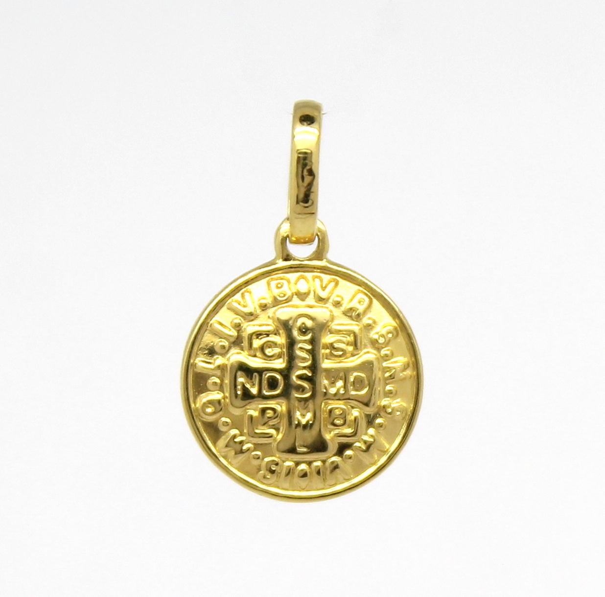 fb56368dd78dc Pingente São Bento Pequeno Ouro 18k 750 - Marcio Joalheiros   Marcio ...