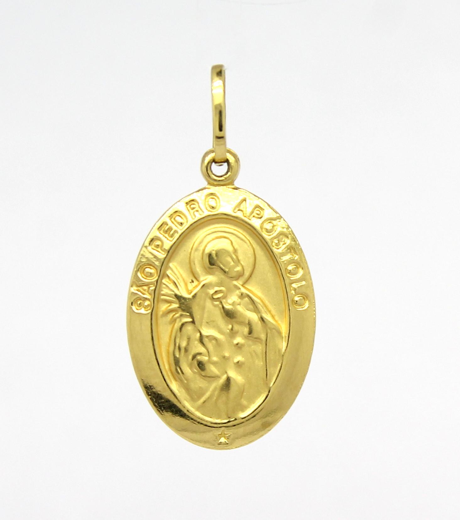 7b538d9845476 Pingente São Pedro Apóstolo Ouro 18k 750 - Marcio Joalheiros .