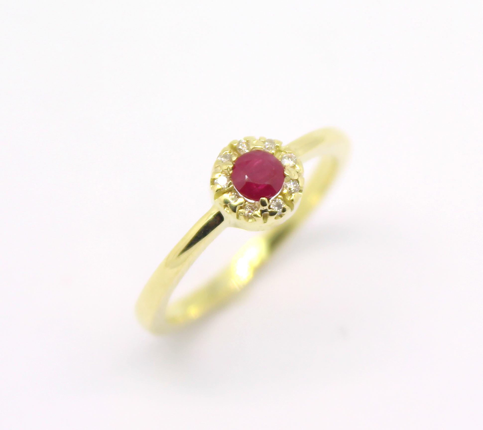 fcab0fa785f Anel de Formatura Direito Rubi e Diamantes Ouro 18k 750 - Marcio ...
