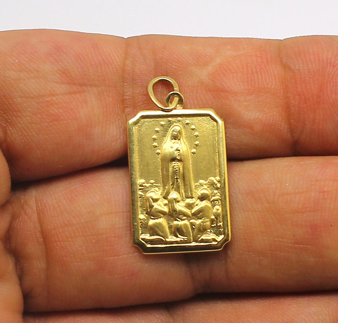 b69bc62981b18 Pingente Nossa Senhora de Fátima Ouro 18k 750 - Marcio Joalheiros .